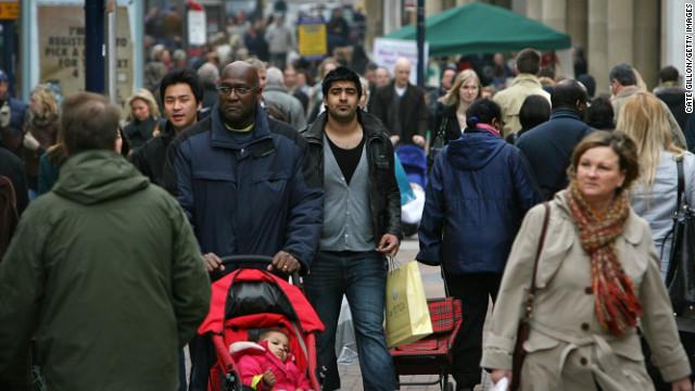 White Britons now London minority